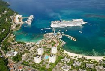 Cruise port and Center City Ocho Rios Jamaica