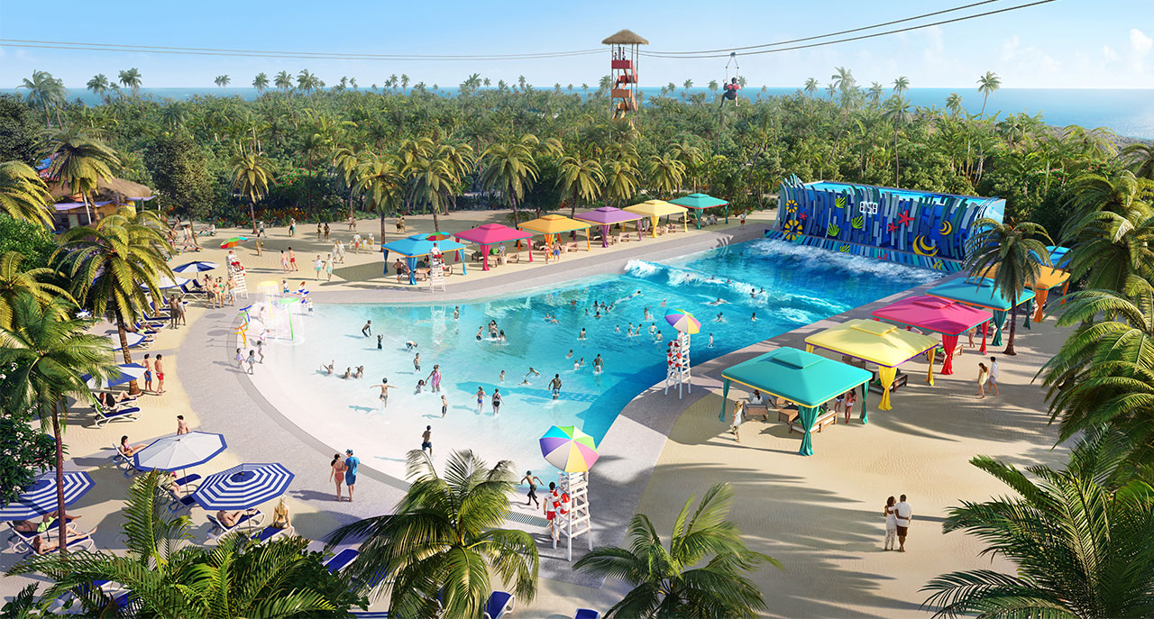 Wave Pool and Wateropark at Coco Cay Bahamas