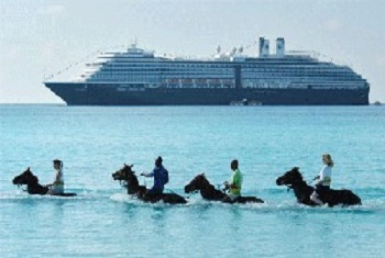 Half Moon Cay Bahamas Beach and Horses - Holland America Cruises Private Island