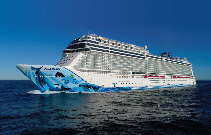 Where is Norwegian Cruise Line's Norwegian Bliss docked?